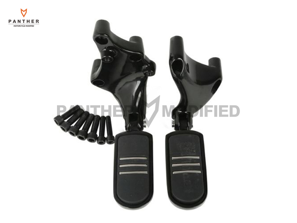 Motorcycle Rear Streamliner Foot Pegs Footrests Mount Brackets Case For Harley Sportster 883 1200 XL 2014 2015 2016 2017