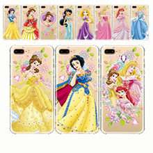 Ariel Aurora Belle Cinderella Jasmine Princess Snow White Girl Soft Silicone Case Phone Case For iPhone 11 5s SE 7 8 Plus X XS M(China)
