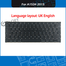Uk-English-Keyboard Replacement Laptop Macbook Year for Retina 12-A1534 EMC 2746/Mf855/Mf865