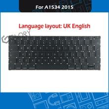 2015 Year Laptop A1534 UK English Keyboard For Macbook Retina 12″ A1534 Keyboard Replacement EMC 2746 MF855 MF865