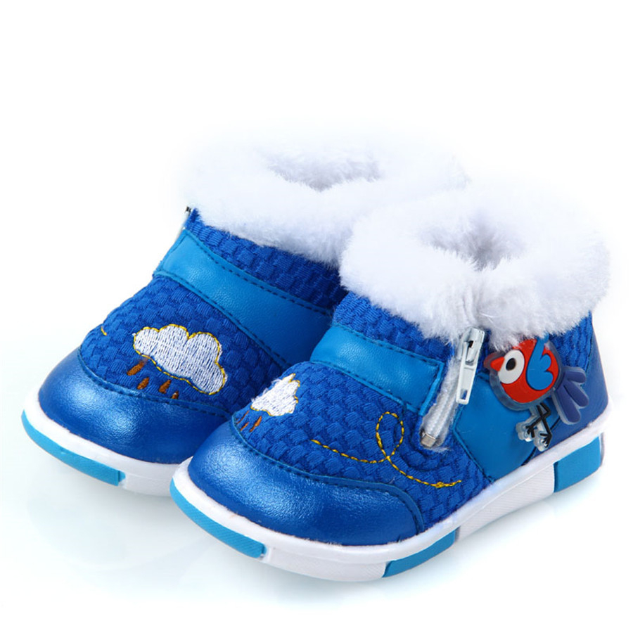 Winter Baby First Walker Shoes Newborns Warm House Slipper Clothes New Year Children Home Anti Slip Footwear 70A1028 2016 winter new soft bottom solid color baby shoes for little boys and girls plus velvet warm baby toddler shoes free shipping