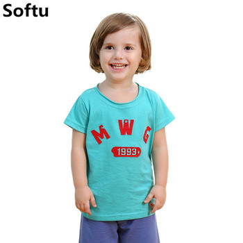 Softu Boys Tops Summer Brand Children T Shirts Boys Clothes Kids Tee Shirt Fille 100% Cotton Character Print Baby Boy Clothing Boys T Shirts