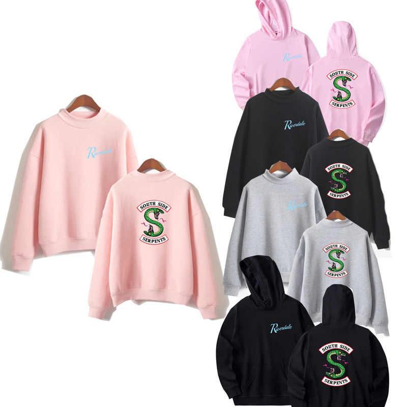 clothing sweatshirt riverdale hoodie Sleeve Fans southside serpents hood big size woman Casual Female costume hoddie