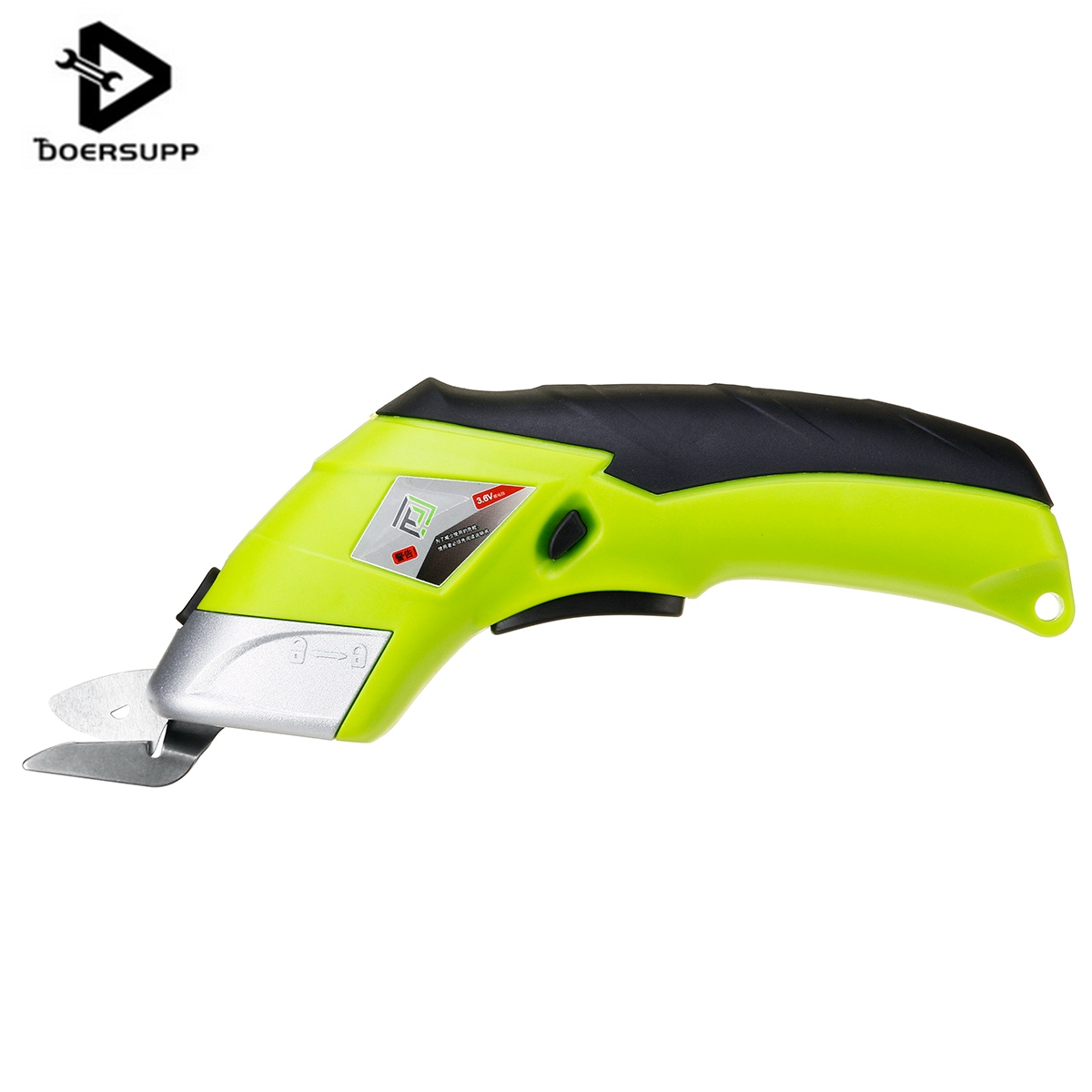 DOERSUPP Multipurpose 110V-220V Electric Scissors Cordless Chargeable Fabric Sewing Scissors Handheld Hand Tools Electric