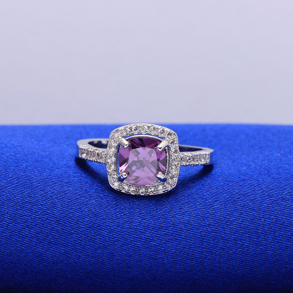 Свадебные Кольца оптовая доставка классический Обручение кольцо желтый CZ Циркон ювелирные изделия Новые Модные Promise Ring