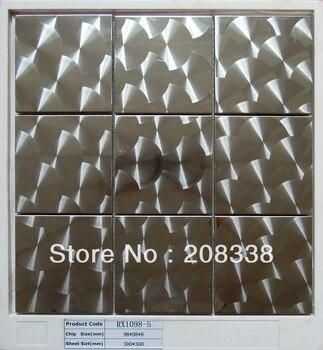 Металлическая плитка из нержавеющей стали мозаичная кухня BACKSPLASH ванная комната стены 8 мм