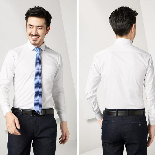 Handsome Mens Shirts Classic Fashionable Hot Sale White Wedding The Groom Single Breasted Casual Custom
