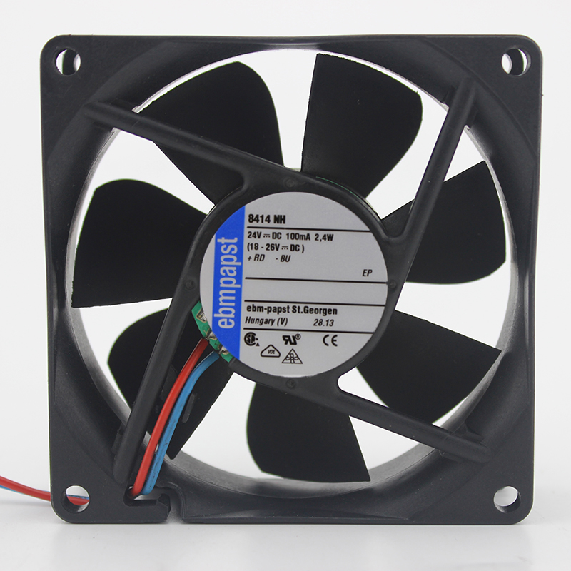 Original ebmpapst 8025 24V 2.4W Model 8414NH 80 80 25MM cooling fan