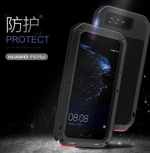 Image 2 - Dla Huawei P20 Pro Lite przypadku miłość MEI potężny odporny na wstrząsy aluminium Metal szkło gorilla pokrywy skrzynka dla Huawei P10 Plus P9 Plus