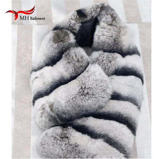 Lenço da pele Outono E Inverno Real fur Cachecóis Cachecol Com As Mulheres de Pele de Coelho Naturais Anéis Acessórios Fêmeas Lenço L #20