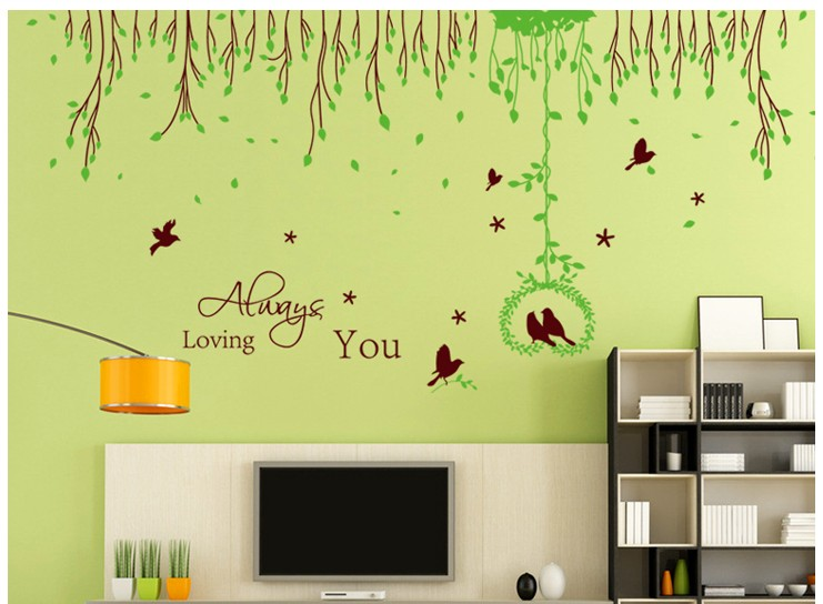 romantic tree animal princess home decoration large removable wall ...