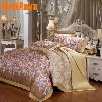 Floral Sheets Queen | Svetanya Floral Embroidery Bedding Set Queen King Double Size Bedlinen