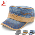 Wholesale 2015 New Simple Fashion Adult Cotton Flat Top Men's Hat Hat Embroidery