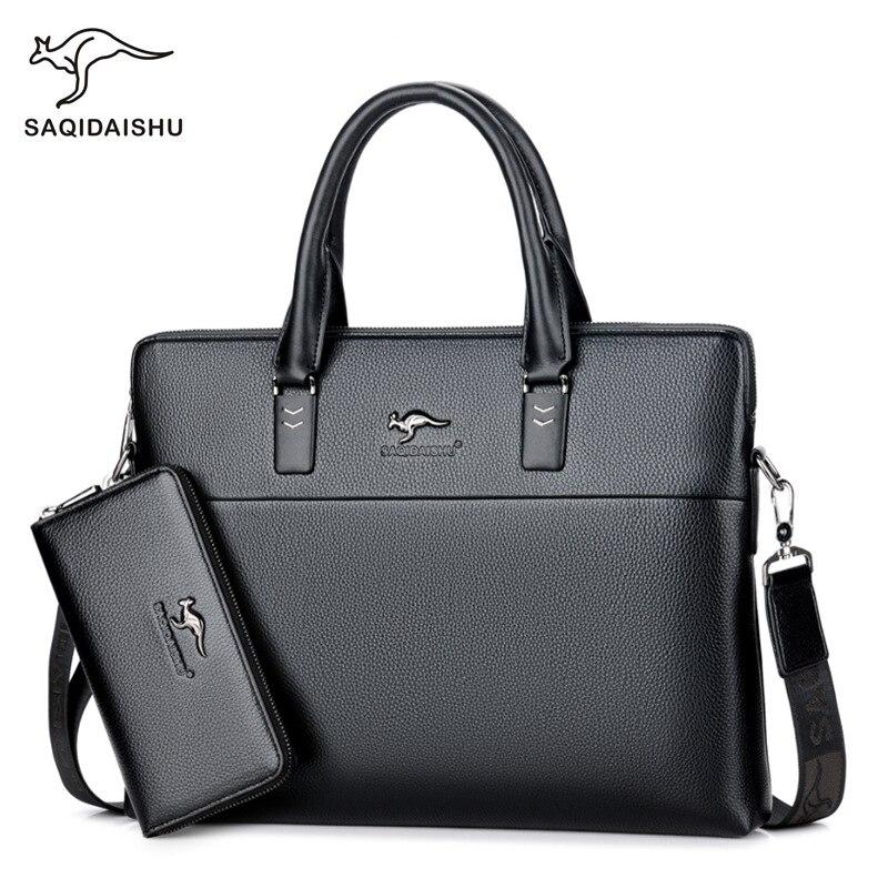 Business Bag Handbag Men Briefcase PU Leather Laptop Bag Male Shoulder Bag High Quality Fashion Advogado Tote Bolsos De Hombre