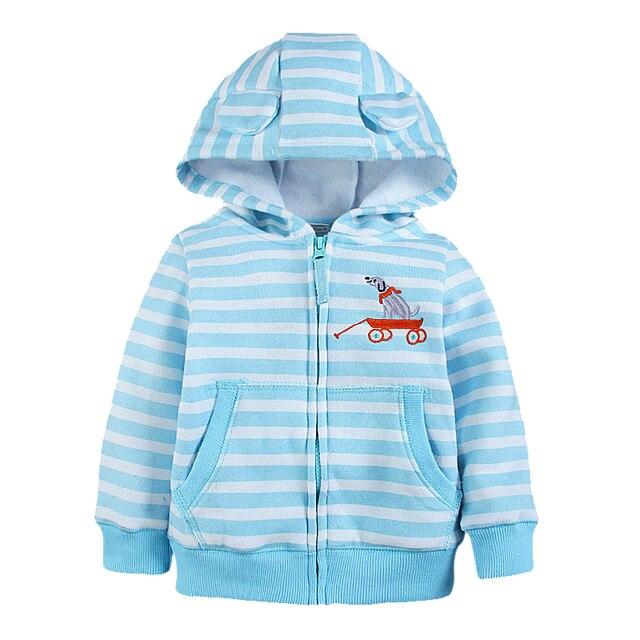 39ce765a6 Nuevos Niños de Invierno Chaquetas de Lana Caliente Rayada Niños Niñas Chaquetas  Sudaderas Niños Tops Coat