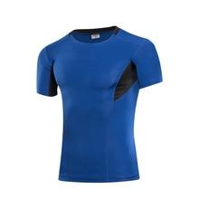 2016 Summer Compression Shirt Men Brand Sport Shirt Bodybuilding Sport Tights Baselayer Fit Running Top Tees Fitness Gym shirt