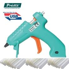 Pro'skit GK-361U 3.6V Li-ion USB Glue Gun DIY Hot Melt Glue Sticks Glue Gun with 7mm Glue Stick glue