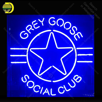 NEON SIGN For Goose Social Club Lamp display Real GLASS Tube Decorate hotel Handcraft Advertise custom neon light public