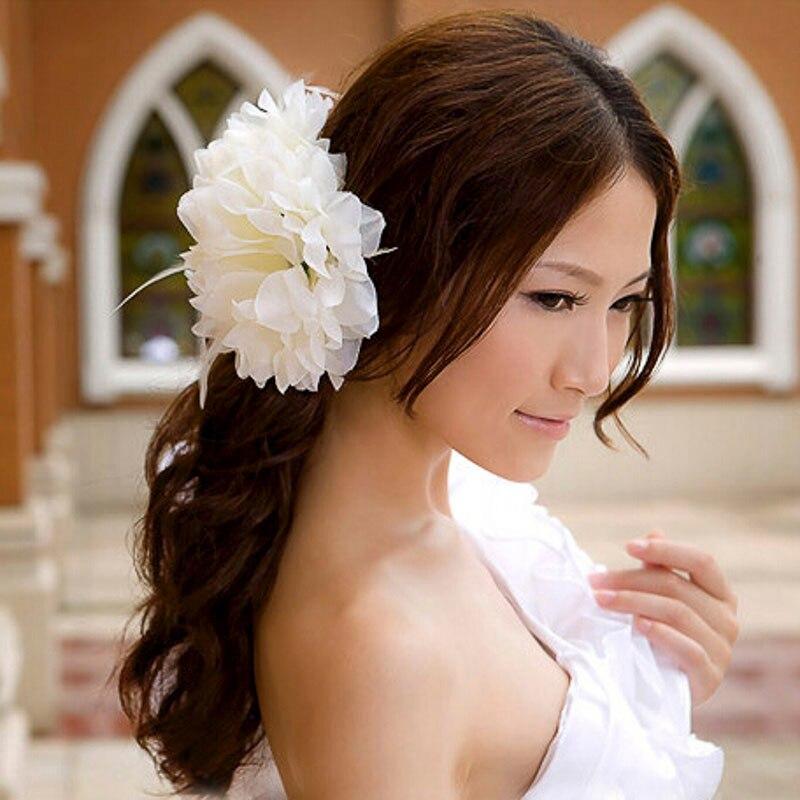 New 1PC Women Beach Orchid Bridal Wedding Flower Hair Clip Brooch Barrette Headpiece