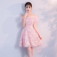 Pink Colour Tassel Mini Dress  Bridemaid Dress  Women Wedding Party Dress  Back of Zipper bridemaid dress pink color mini dress women wedding party dress