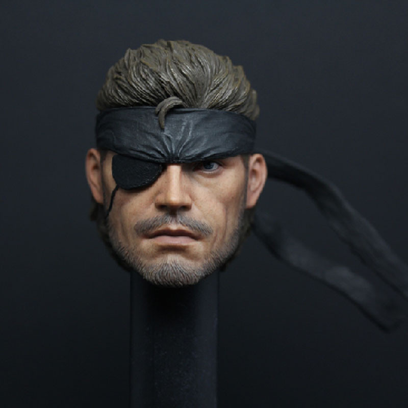 Mnotht Head Sculpt 1/6 Metal Gear Big Boss Head Sculpt Venom Snake Headplay For 12in Action Figures l30 фигурка героя мультфильма 1 6 12 head sculpt