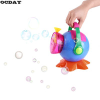 OCDAY Automatic Bubble Machine Maker Blower Toy Bubble Blowing Soap Bubbles for Outdoor Indoor Party Bubbles Maker Kids Toy Gift