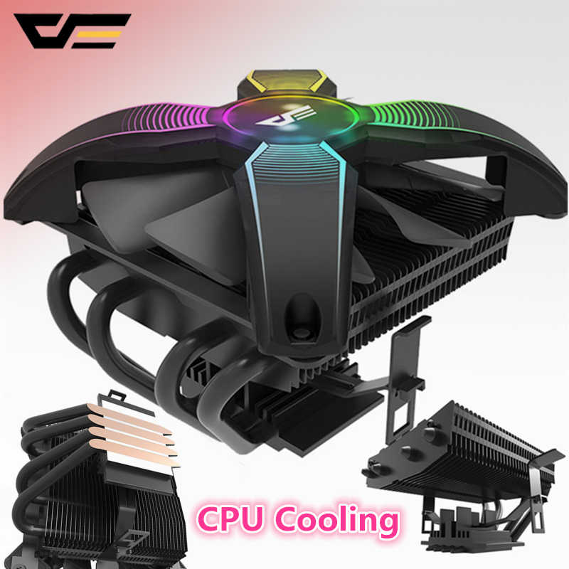 Darkflash Aigo CPU Koeler Radiator TDP 280 W Koellichaam Stille 120mm 4Pin PC Nieuwste CPU Koeling voor LGA115X /AMD Computer Case Fan