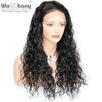 360 кружевные парики с бразильскими волосами Babyhair remy волосы 4,5 дюйма человеческие волосы волна воды парик предварительно сорвал естественны