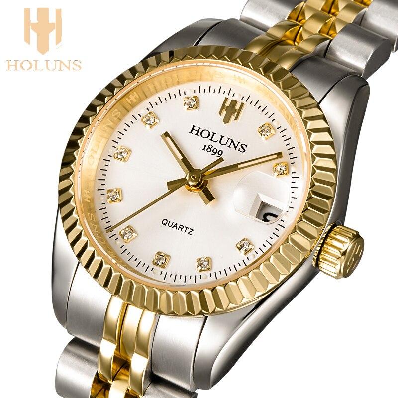 quartz ladies wris watch Luxury female rose gold stainless steel women watch waterproof watches for women
