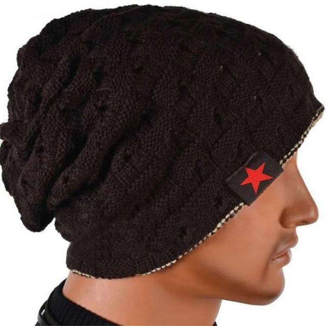 c3a477d8137 ... info for 52530 59c43 Skullies Beanies Men And Women Woolen Knit Hat  winter Baggy Cap Warm