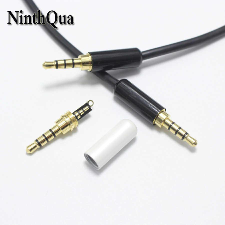 1 sztuk 3.5mm Audio wtyczki 3.5mm pozłacane 3 polak męski Adapter Audio wtyczka słuchawek dla DIY słuchawki Stereo do OD4.0mm kabel