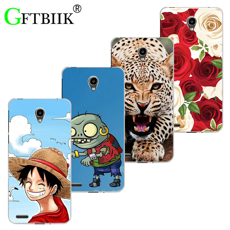 Super Cartoon Pattern Cover For Alcatel One Touch GO Play 7048X 5.0 Conquest 7046 7048 7046T Soft Silicone Case Shell Coque