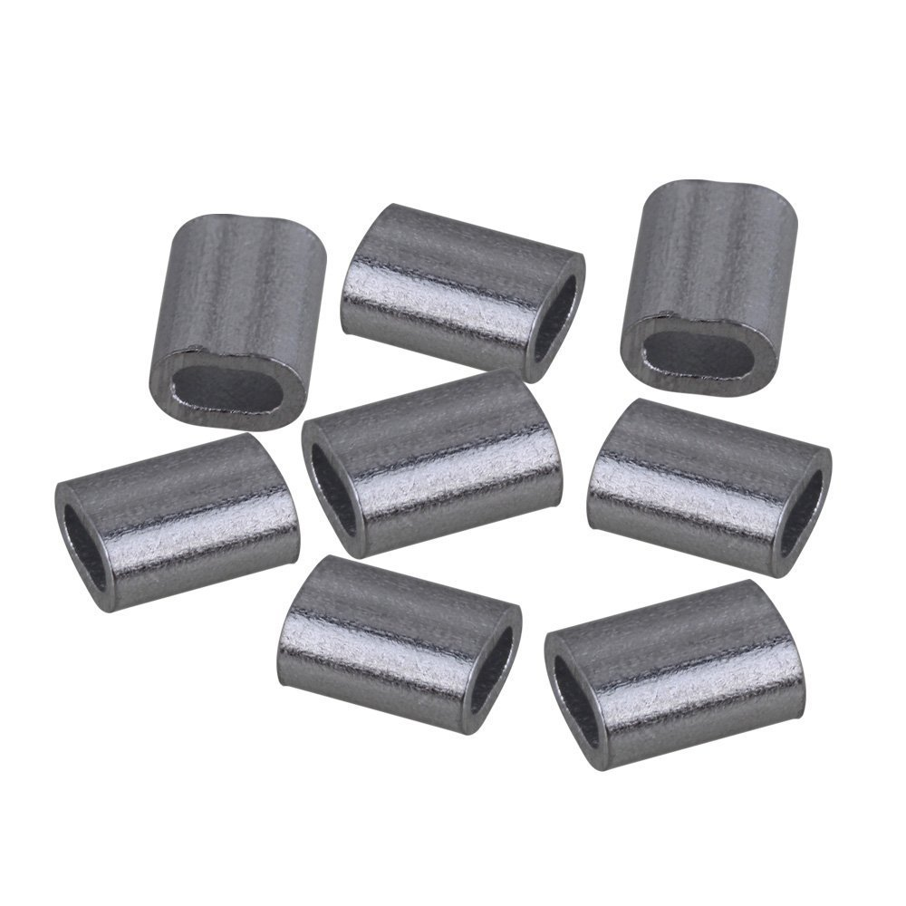 1,2mm Oval Form Sliver Aluminium Crimpen Schleife Drahtseil Clip ...