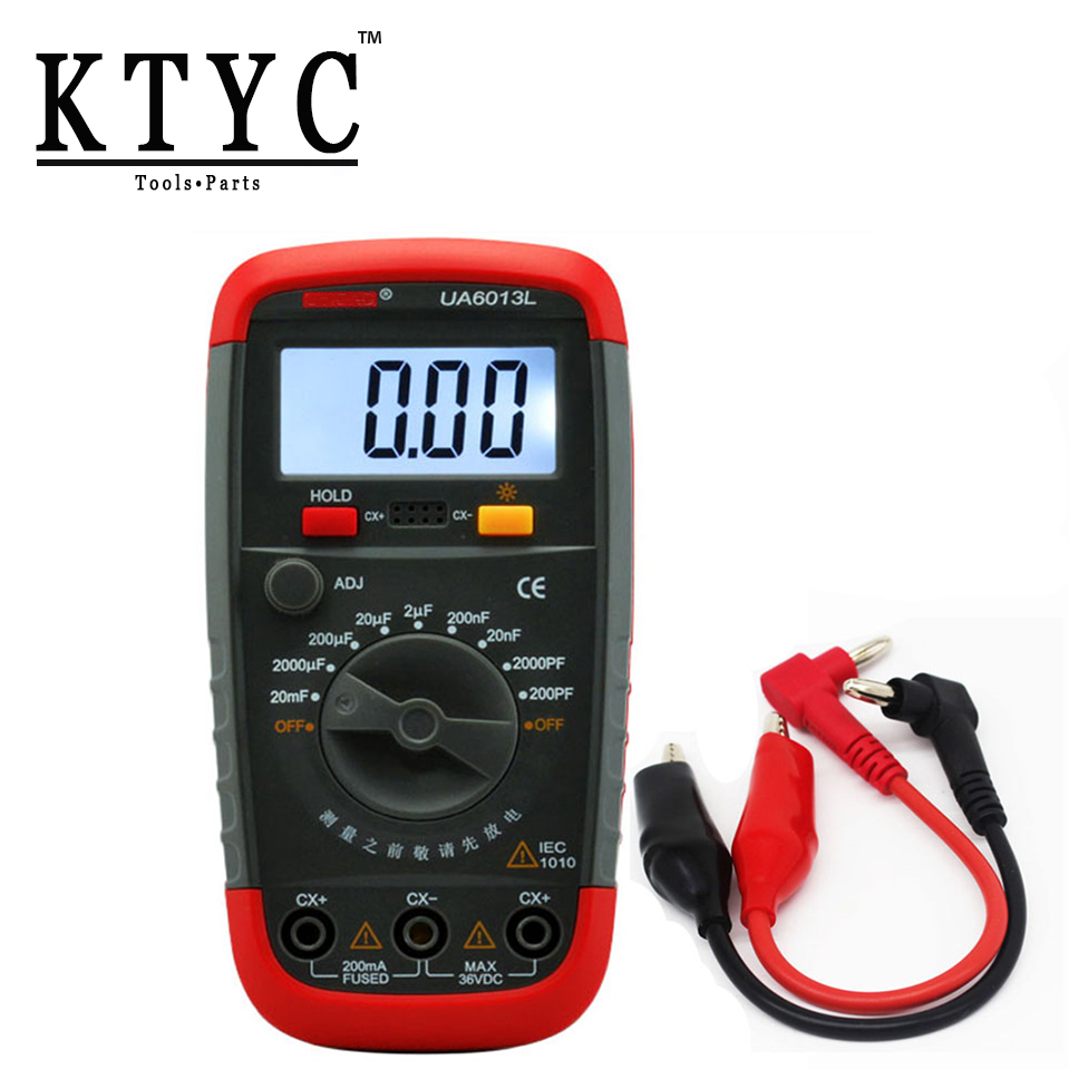 KTYC UA6013L Auto Range Digital LCD Capacitor Capacitance Test Meter Multimeter Measurement Tester Meter use pp ua тв онлайн