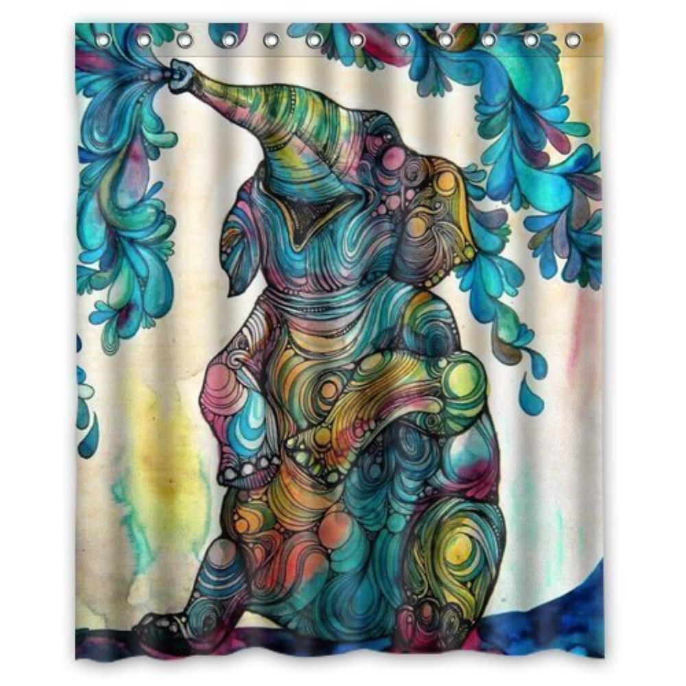 African elephant Custom Shower Curtain Pattern Shower Curtain Waterproof Fabric Shower Curtain For Bathroom 66*72inch