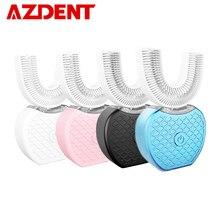 360 градусов sonic автоматическая электрическая зубная щетка USB перезаряжаемая умная ультра звуковая Силиконовая зубная щетка 4 режима U Тип таймер