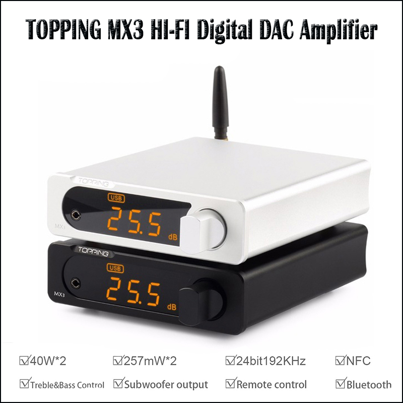 TOPPING MX3 USB DAC Audio Amplifier Hifi Bluetooth DAC Amp PCM5102A Digital Amplifier Bluetooth with Headphone