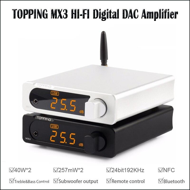 TOPPING MX3 USB DAC amplificateur Audio Hifi Bluetooth DAC ampli PCM5102A amplificateur numérique Bluetooth avec sortie amplificateur casque-in Casque Amplificateur from Electronique    1