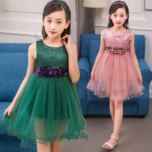 Princess Party Dresses For Girls Wedding Dresses Floral Print Kids Prom Dresses Summer 2017 Sundress 4 6 8 10 12 Years Vestidos girls summer dresses kids print sundress for child clothes teenager print sleeveless dress infant clothing 6 8 10 12 13 years