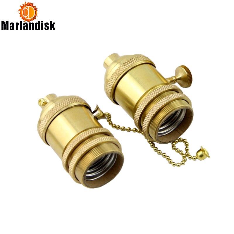 Prix de gros Vintage E26/E27 Lampes Socket Holder/Base Pour Antique Ampoule, Lampe De Cuivre Titulaire, 4 Modèles Pour Le Choise (HJ-50)