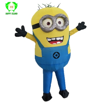 Inflatable Cartoon Cosplay Costumes Minion Cosplay Costumes Halloween Party Adult Mascot Costumes for 1.5-1.85m Adult and Child pikaalafan giant inflatable toy christmas bar party costumes riding elk inflatable performance costumes puppet stage costumes