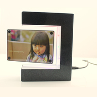 Magnetic Levitation Floating Photo Frame With Colorful LED Lights Picture Frames Holiday Birthday Gifts Home Decoration