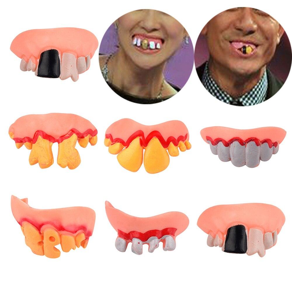 LED Flashing Light False Tooth Brace Halloween Dress Up Cosplay Mouth Guard Toys