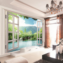 Waterfalls Forest View 3d wallmural