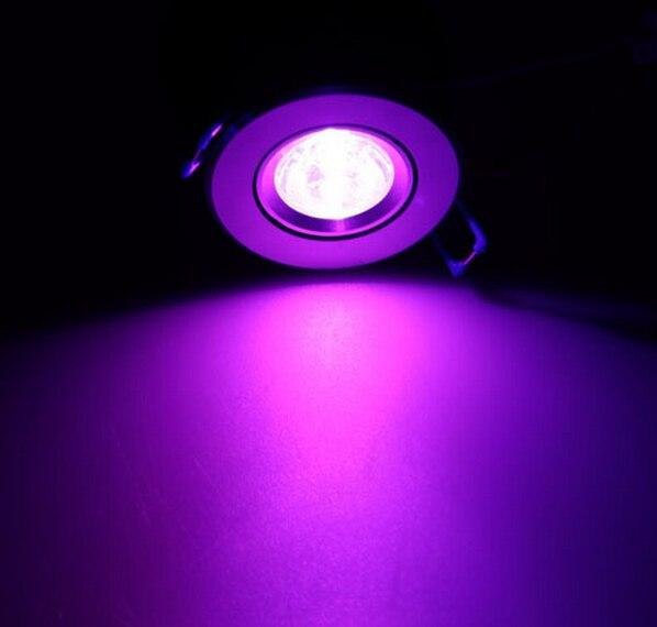 Светодиодный светильник 3 Вт RGB 16 цветов Точечный светильник AC85 265V + ИК пульт дистанционного управления RGB светодиодный потолочный светильни... - 5