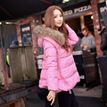 Original 2016 Brand Winter jacket Women Plus Size Elegant Casual Nature Real Fur Collar Hooded Warm Down Coat Wholesale