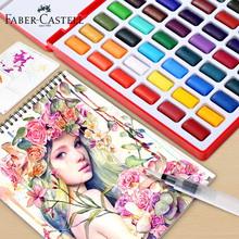 Professional Solid Watercolor Painting 24/36/48 Colors With Paintbrush Portable Travel Watercolor Pigment Painting Art Supplies цена 2017