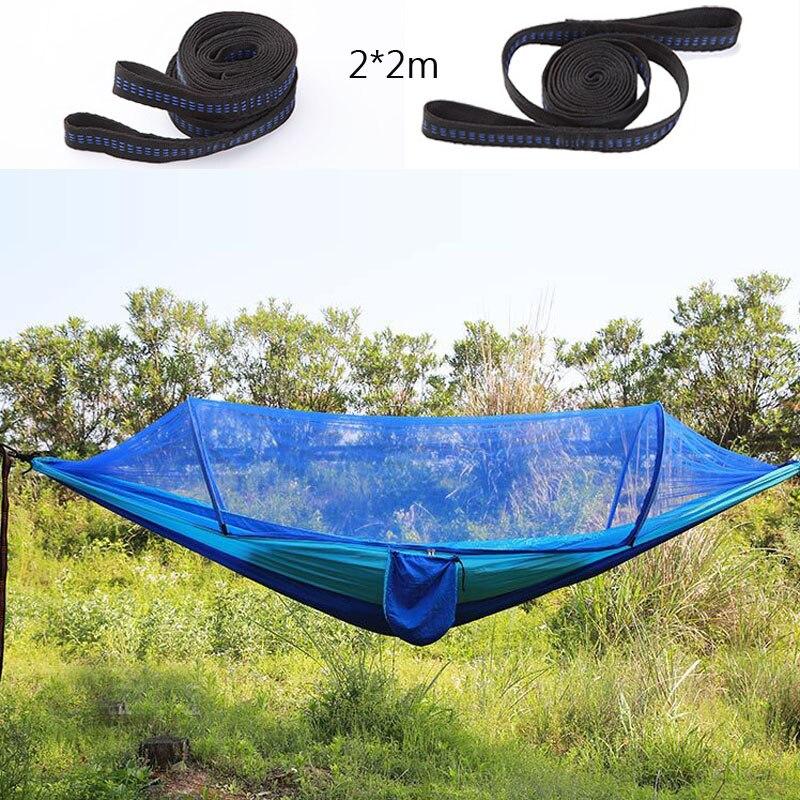 Di Modo Di Campeggio Esterna Amaca 290*140 Centimetri Automaticamente Aperto Zanzariera Hamac Trekking Viaggi A Pelo Stuoie Tenda Appeso Letto