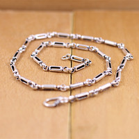 S925 sterling silver jewelry wholesale silver product personality Korea trend Men's Antique Necklace