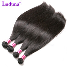Luduna Malaysian Straight Hair Human Hair Weave Bundles Non remy Hair Extensions two Color Can Be